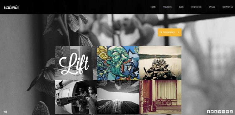 宽屏摄影艺术主题网站模板