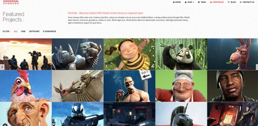 Horizonal Unique Creative OnePage Bootstrap HTML5