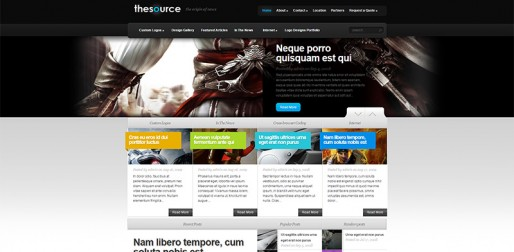 TheSource Theme   the origin of news