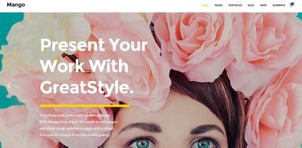 摄影风格网站模板