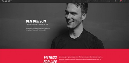 Fitness   Foundry WordPress Theme