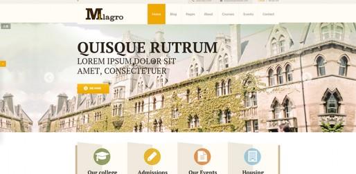 教育主题网站模板