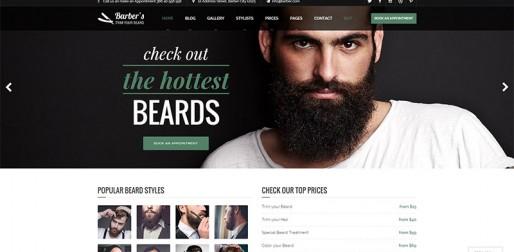 发型设计网站主题模板